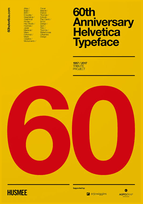 Helvetica 60th anniversary | What's new in design digital